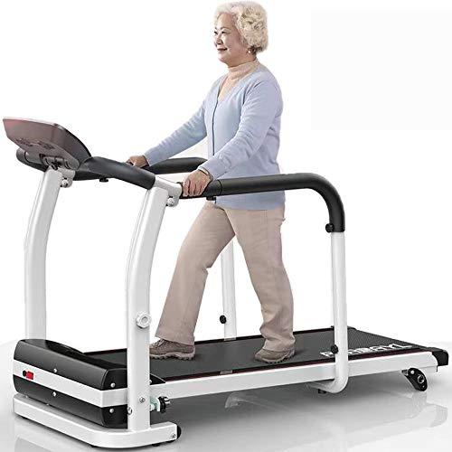 COKECO Tapis roulant per Anziani per la casa Tapis roulant Elettrico Pieghevole Tapis roulant per la Riabilitazione Home Anziani Macchina da Passeggio Esercizio Sicurezza Portante 120 kg