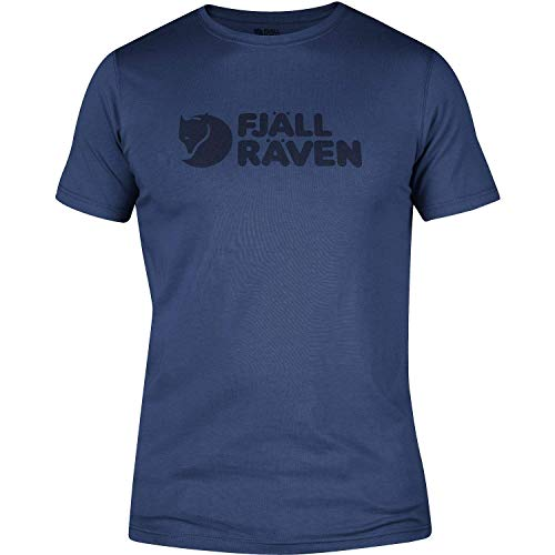 FJÄLLRÄVEN Herren Logo T-Shirt, Deep Blue, M