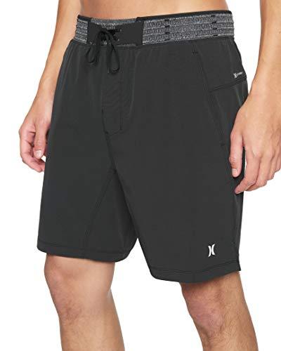Hurley M Phtm Hyperweave Alpha 2-in-1 18' Pantaloncini da Surf, Black, M Uomo