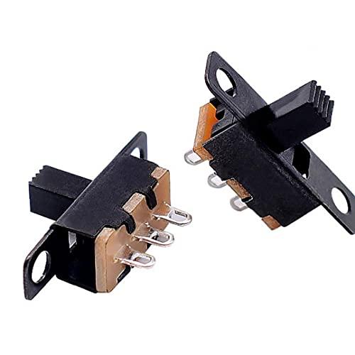 Ruluti Micro Interrupteur À Glissière 3 Broche 2 Position 1p2t Marche-arrêt Interrupteur À Bascule Poignée
