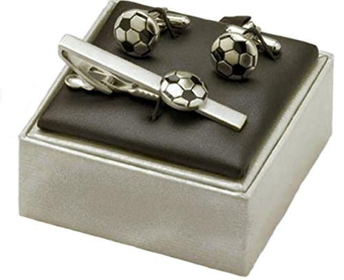 Football Gift Company Pince à cravate et boutons de manchette
