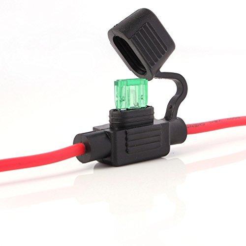 Neuftech® Sicherungshalter KFZ LKW Flachsicherung Sicherung Halter wasserdicht 30A (inkl. 30A Sicherung - 26 cm)