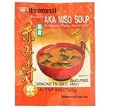 Hanamaruki Aka Miso Soup Instant Soup 30g - Una deliziosa zuppa di miso rossa o aka istantanea inclusa sono