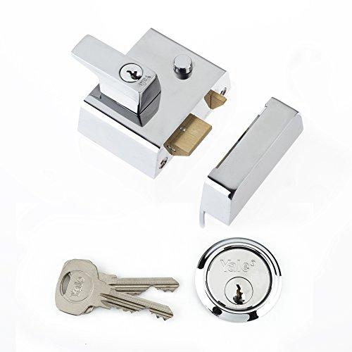Yale Locks P2 Visi Verrou de sûreté double Chrome entrée 40 mm