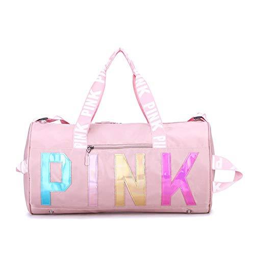 Sporttas Grote roze sporttas Waterdichte sporttas voor dames Trainingsyoga, roze