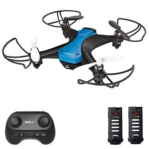 tech rc Mini Drone Facile da Pilotare con Due Batterie Funzione di Un Pulsante di Decollo  Atterraggio ,modalità Senza Testa 3D Flip Protezioni a 360°Buon Regalo per Bambini e Principianti