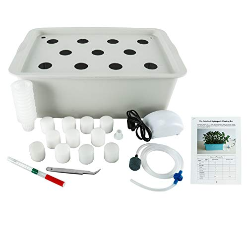 HYDDNice Hydroponic Grower Kit 11 Holes DIY Self Watering Plant Hydroponics Tools Indoor DWC Hydroponic System Hydroponic Bucket Kit