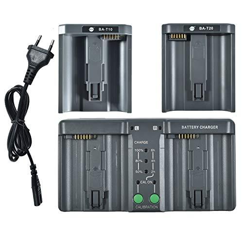 DSTE® DMH26A 3-in-One Power Batería Cargador (Enchufe de la UE) Compatiblepara Nikon EN-EL18 EN-EL4 EN-EL4A Canon LP-E4 LP-E4N LP-E19 LC-E19 como MH-26