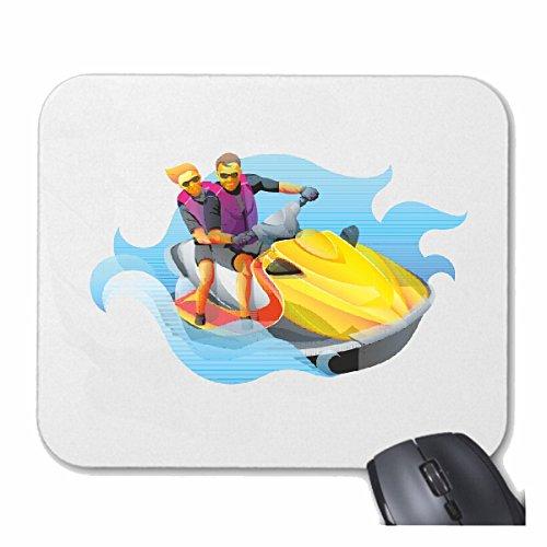Reifen-Markt Mousepad (Mauspad) Jet SKI Jetski Boote UND BOOTSZUBEHÖR Jetski FÜHRERSCHEIN für ihren Laptop, Notebook oder Internet PC (mit Windows Linux usw.) in Weiß