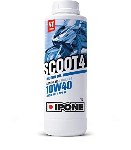 Ipone 800383 Huile Temps 10W40 Scoot 4-Semi-Synthétique-Protection du Moteur-Economie de Carburant-Bidon 1 Litre, 1L