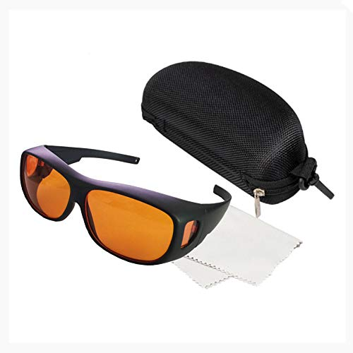 190nm-540nm Professional Laser Protective Glasses for 405nm,445nm, 532nm Laser and Violet/Blue/Green Laser Safety Goggles 450nm( Specifically for 532nm laser )