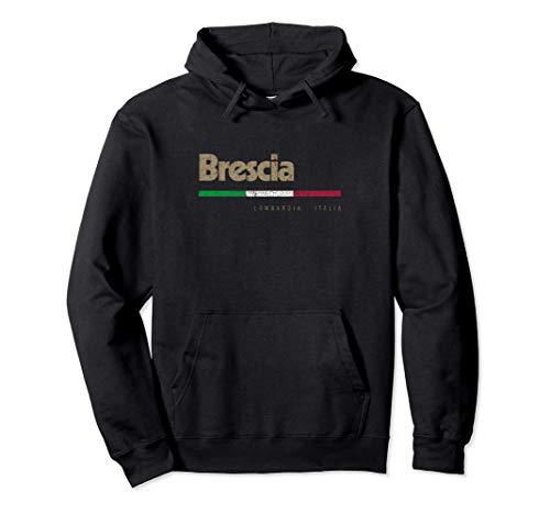 felpa italia Brescia Città Italiana Retrò Bandiera Italia Felpa con Cappuccio