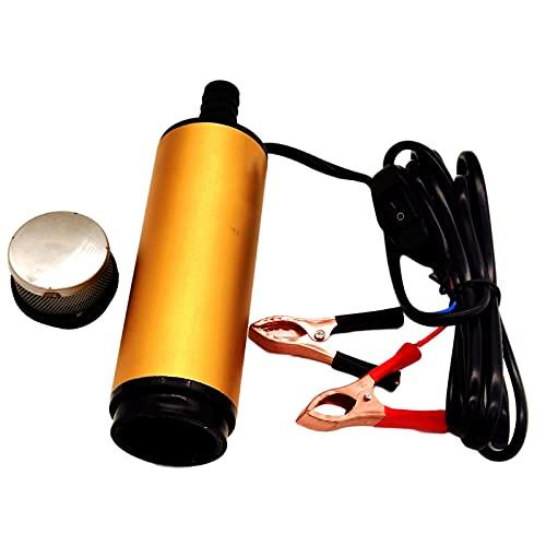 SM SunniMix Bomba de agua, Bomba de combustible Bomba sumergible de aleación de aluminio con clip, Cable de alimentación de 3 metros, Alcance de, 12V 51mm