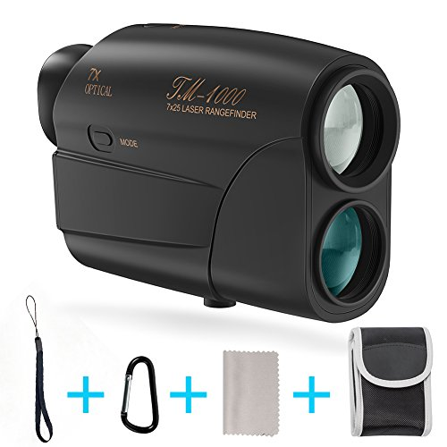Fnova Laser Rangefinder, Hunting Range Finder Ranging 5-1000 Yards Digital Rangefinder 7X Magnification Lens Golf Rangefinder for Hunting, Racing, Archery, Survey and Golf 1000 Rangefinder