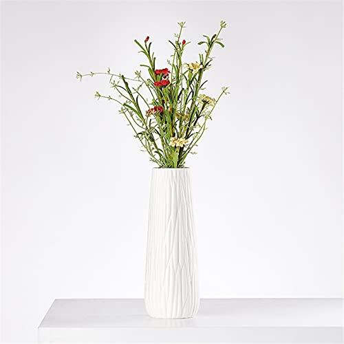 RZHIXR Vase white ceramic, modern ceramic vase table decoration, ceramic non-slip vase, home office wedding decoration, or as a gift