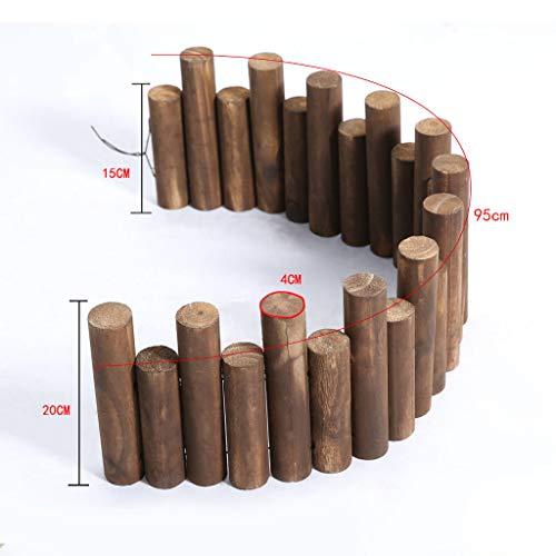 Clôture en bois Décoration de grille de clôture Garde-corps Clôture de jardin en plein air Clôture pour animal de compagnie (taille : A)