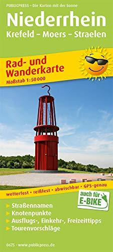 Niederrhein, Krefeld - Moers - Straelen: Rad- und Wanderkarte mit Ausflugszielen, Einkehr- & Freizeittipps, wetterfest, reißfest, abwischbar, GPS-genau. 1:50000 (Rad- und Wanderkarte: RuWK)