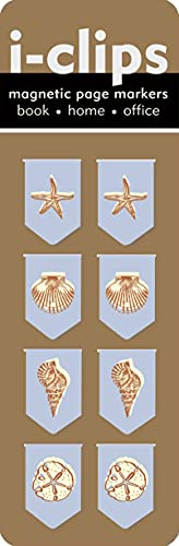 Seashells i-Clip Magnetic Page Markers (Set of 8 Magnetic Bookmarks)