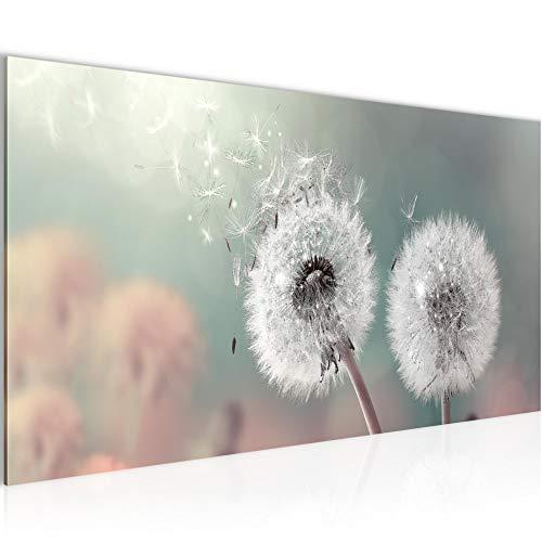 Bilder Blumen Pusteblume Wandbild 100 x 40 cm Vlies - Leinwand Bild XXL Format Wandbilder Wohnzimmer Wohnung Deko Kunstdrucke Rosa 1 Teilig - MADE IN GERMANY - Fertig zum Aufhängen 023612b