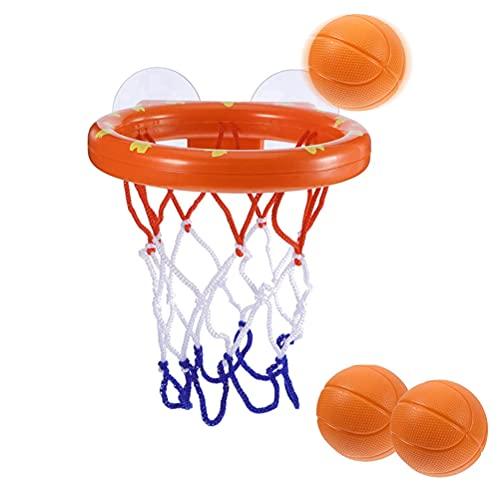 BUYGOO Badespielzeug Baby Spaß Badezimmer Basketballkorb - Badewannenspielzeug Mini Basketball Saugnapf Dunker für Badezimmer Baby Spielzeug, Baby Badewanne, Wasserspielzeug (1 Korb + 3 Bälle)
