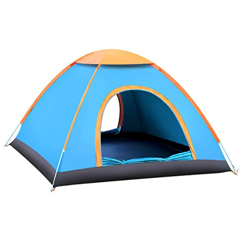 YQY Large 2 Person Pop Up Tent, Foldable Outdoor Camping Tent Hiking Tent for Children Family on Garden Beach, Ventilated and Durable, Open in 2 Seconds, Blue