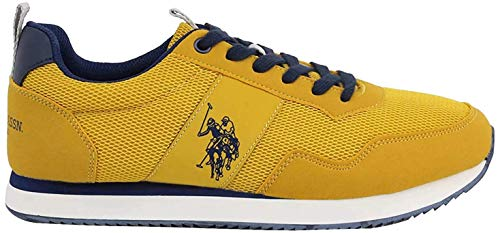 US Polo Association Exte, Zapatillas de Gimnasia para Hombre, Amarillo (Yel 020), 41 EU