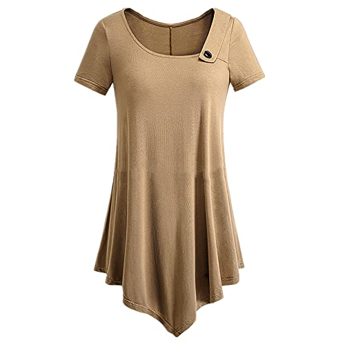 N\P Simple Casual - Maglietta da donna Caff L