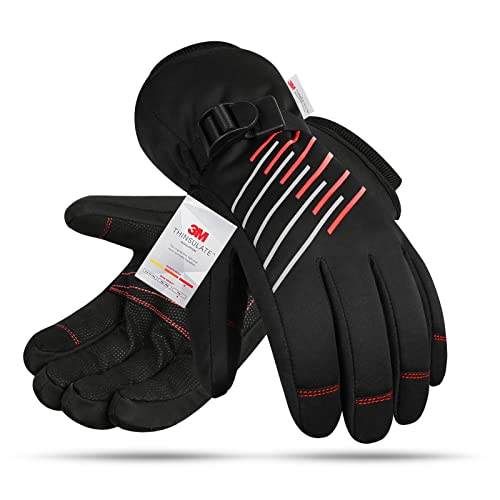 Winter Gloves -40F° 3M Thinsulate Thermal Gloves,Waterproof Ski Gloves Cold Weather Gloves for...