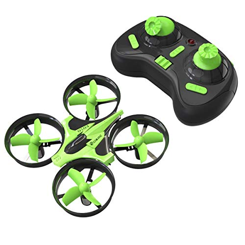 Mini Quadcopter Drone, EACHINE E010 2.4GHz 6-Axis Gyro Remote Control Best Nano Quadcopter Drone Boys Girls - Headless Mode, 3D Flip, One Key Return (Green)