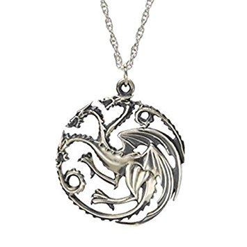 Game of Thrones Targaryen Drachen Wappen Halsanhänger Halskette Halsschmuck Kette dragon