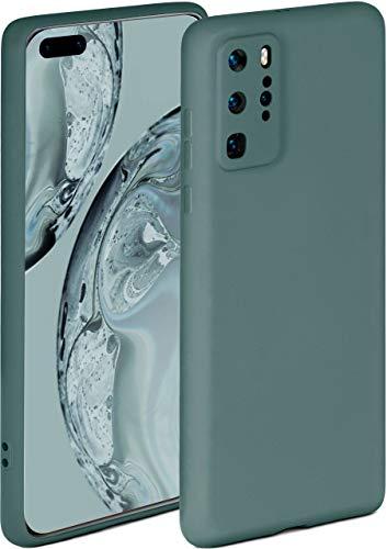 ONEFLOW Soft Hülle kompatibel mit Huawei P40 Pro Hülle aus Silikon, erhöhte Kante für Displayschutz, zweilagig, weiche Handyhülle - matt Petrol
