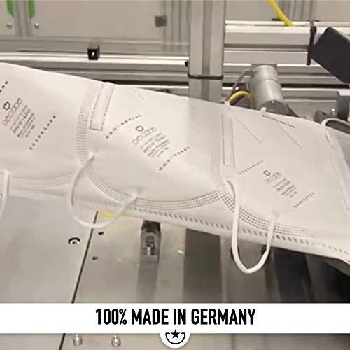 """10x FFP2 Mundschutz Maske – Test: """"SEHR GUT"""" DECADE Maske 4 Lagig – Made in Germany – Mund und Nasenschutz, Einmalmasken EINZELVERPACKT Maske N95 Schutzmaske KN95 - 7"""
