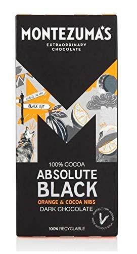 Montezuma's Dark Chocolate Absolute Black with Orange and Cocoa Nibs 90g
