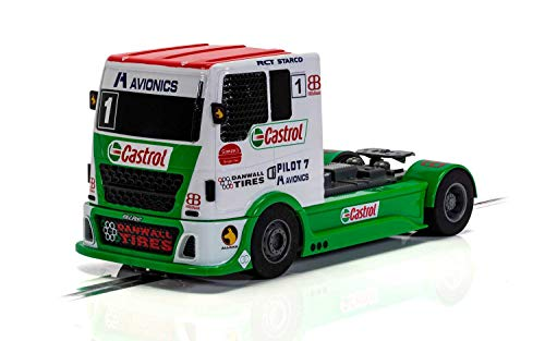 Scalextric Truck - Red & Green & White, C4156