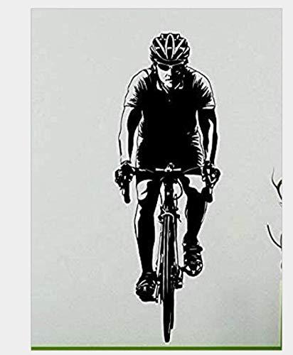 Pegatinas De Pared Bicicleta Personalidad Pegatinas de pared Sala de estudio Sala de estar Dormitorio Sofá Fondo Decoración de pared 42 * 121Cm