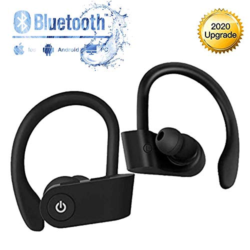 Auriculares Bluetooth, Auriculares Inalámbricos Deportivos, Inteligent Bluetooth 5.0 HiFi Mini Twins Estéreo In-Ear Auriculares , para el Correr Hacer Ejercicio, para Apple Airpods Android iPhone