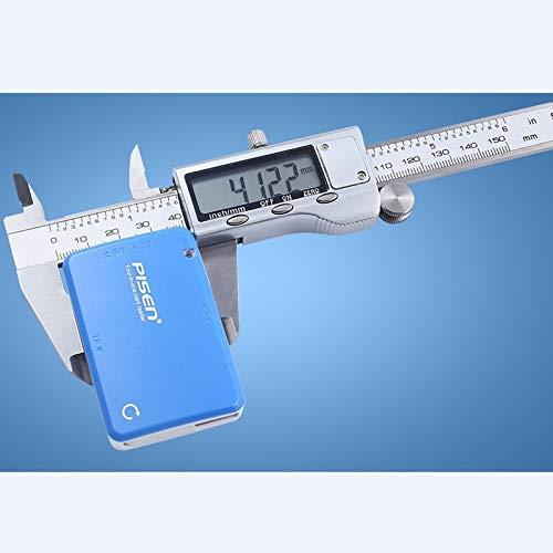 WEI-LUONG Calibrador de 150 mm / 6' Herramientas de medición electrónica Digital Vernier de 0,01 mm de Acero Inoxidable Pinzas de LCD Grande de Metal micrómetro del calibrador (Color : Silver)