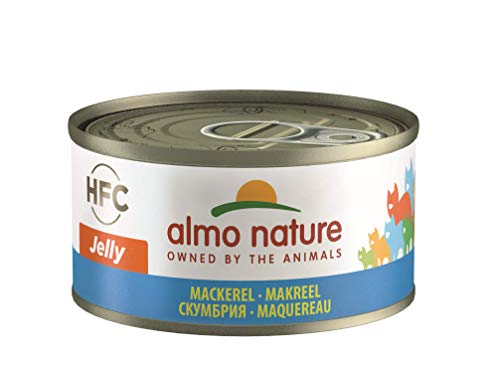 almo nature Hfc Jelly Wet Cat Food con sgombro, Confezione...