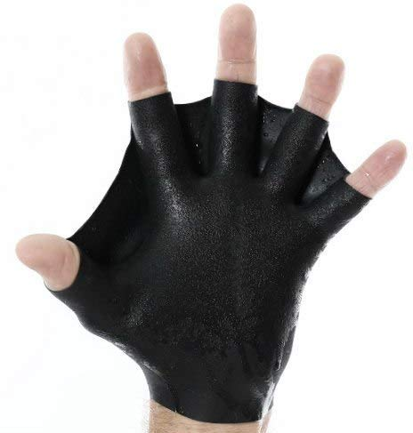 DarkFin Short Webbed Swimming Gloves (1 Pair) for...