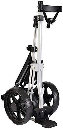 Sale!! HWXDH Outdoor Golf Cart, Foldable/Push Tricycle/Cart, Quick Open and Close Folding Device