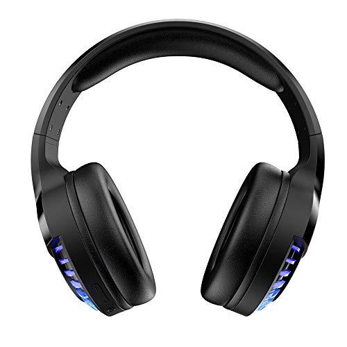 UKtrade 2020 Nuevo SH33 Dual Mode BT V5.0 Auriculares inalámbricos y con cable RGB Gaming Headset plegables estéreo Cancelación de ruido (negro)