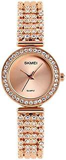 Women Watch - Crystal Quartz Rose Gold Stainless Steel Watch,Bracelet Wrist Watch