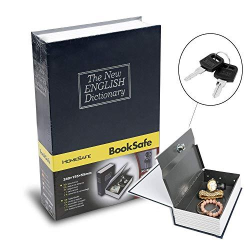 Birud English Dictionary Style Iron Secret Hidden Book Safe Vault Locker Box Deposit Home Mini Cash Jewelry Security