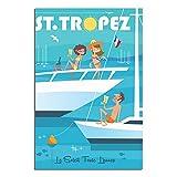 ASFGH St Tropez Côte D'Azur Vintage Reise Poster Dekor
