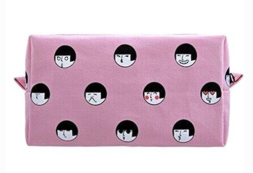 Creative Haute Capacité Maquillage Sacs / Sacs De Stockage (Rose)