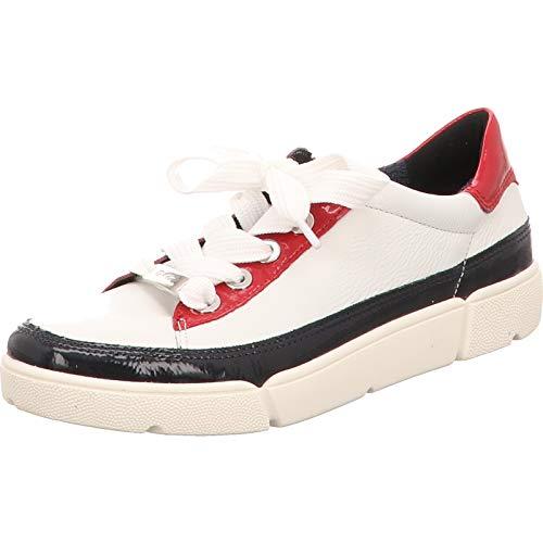 ara Damen ROM Sneaker, Blau (Navy, Weiss/Rosso 19), 38 EU(5 UK)