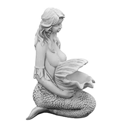 gartendekoparadies.de Masssive Steinfigur Meerjungfrau Nixe optional Wasserspeier Steinguss frostfest