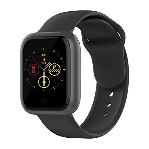 LIEBIG Smartwatch Herren,Fitness Armbanduhr mit Pulsuhr Fitness Tracker IP68 Wasserdicht Sportuhr Smart Watch mit Schrittzähler Pulsuhr Schlafmonitor Stoppuhr Herren Damen Fitnessuhr für Android iOS