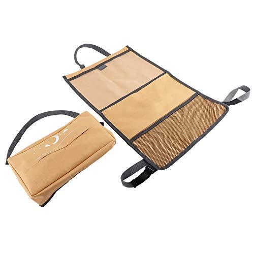 Bediffer Easy Lean Bolsas de Almacenamiento para el Respaldo del Asiento del automóvil Caja de pañuelos Organizador del Respaldo del Asiento Protector Amarillo Impermeable Almacenamiento para Colgar