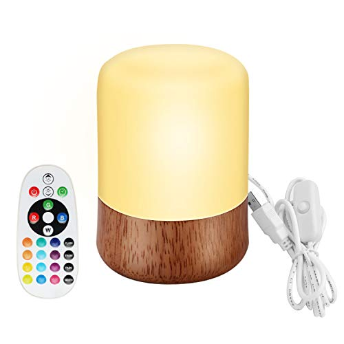 Nachtlicht Kind, Baby Nachtleuchte mit Fernbedienung, LED Pilzlampe Nachtlampe BPA FREI Dimmbar, Silikon Wiederaufladbare Nachttischlampe Weihnachtsgeschenk Nachtlichter Kinderzimmer Schlummerleuchte